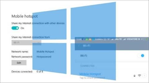 bagaimana menyalakan Internal Mobile Hotspot di Windows 10 dan Share Internet ?