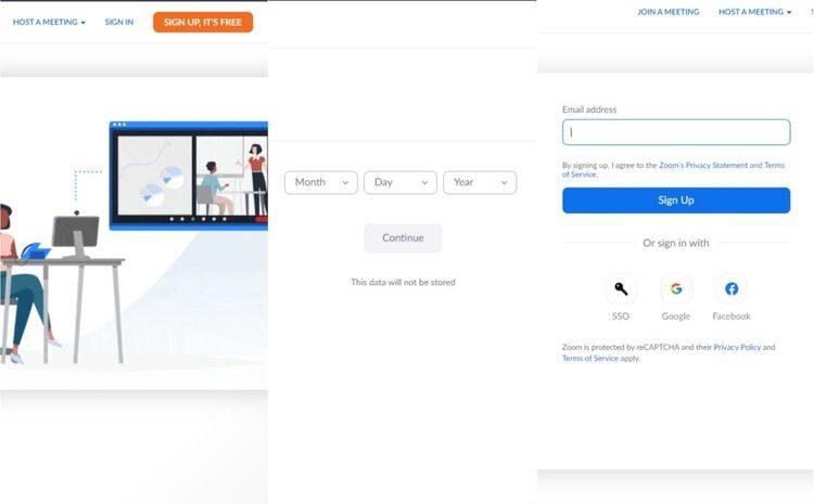 Cara Mendaftar Akun Zoom Meeting